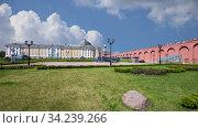 Купить «Inside of Moscow Kremlin, Russia (day, against the cloudy sky).», видеоролик № 34239266, снято 14 июля 2020 г. (c) Владимир Журавлев / Фотобанк Лори