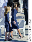 Купить «King Felipe VI of Spain, Queen Letizia of Spain, Crown Princess Leonor, Princess Sofia attend Spanish Royals attends State tribute to the victims of the...», фото № 34241262, снято 16 июля 2020 г. (c) age Fotostock / Фотобанк Лори