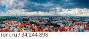 The city center of Pilsen in the Czech Republic. Стоковое фото, фотограф Zoonar.com/Marcus Beckert / easy Fotostock / Фотобанк Лори