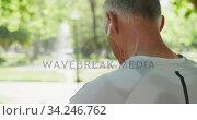Купить «Rear view of senior man running in the park», видеоролик № 34246762, снято 16 октября 2019 г. (c) Wavebreak Media / Фотобанк Лори