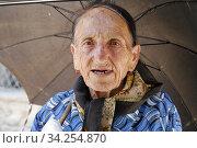 Old Armenian woman in Gory. Nagorno Karabakh. Photo: André Maslennikov. (2006 год). Редакционное фото, фотограф Andre Maslennikov / age Fotostock / Фотобанк Лори