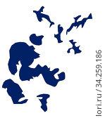 Karte der Orkney Inseln in blauer Farbe - Map of Orkney in blue colour. Стоковое фото, фотограф Zoonar.com/lantapix / easy Fotostock / Фотобанк Лори