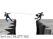 Купить «Boss holding his employee in retention concept», фото № 34277162, снято 2 августа 2020 г. (c) Elnur / Фотобанк Лори