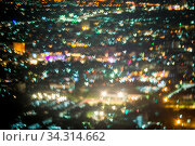 Abstract, Beautiful Bokeh landscape of city at night, Bokeh light and blur city sunset. Стоковое фото, фотограф Zoonar.com/Pinrath Phanpradith / easy Fotostock / Фотобанк Лори