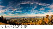 Panorama view from Schockl mountain in Graz. Tourist spot in Graz Styria. Places to see in Austria. Стоковое фото, фотограф Zoonar.com/Przemyslaw Iciak / easy Fotostock / Фотобанк Лори