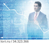 Businessman in trading and finance concept. Стоковое фото, фотограф Elnur / Фотобанк Лори