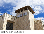 The art deco Odeon Cinema in Weston-super-Mare, UK, which opened in 1935 and is a grade II listed building. Стоковое фото, фотограф Zoonar.com/Keith Ramsey / age Fotostock / Фотобанк Лори