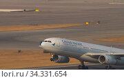 Купить «A330 airliner taking off», видеоролик № 34331654, снято 10 ноября 2019 г. (c) Игорь Жоров / Фотобанк Лори