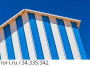 Купить «Detail of cabin on a beach with blue sky on background», фото № 34335342, снято 5 августа 2020 г. (c) easy Fotostock / Фотобанк Лори