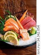 Vareity of Sashimi set, gourmet japanese freshness cuisine. Стоковое фото, фотограф Zoonar.com/Vichie81 / easy Fotostock / Фотобанк Лори