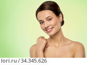 beautiful young woman with bare shoulder. Стоковое фото, фотограф Syda Productions / Фотобанк Лори