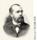 Portrait of Robert Heinrich Hermann Koch (1843 - 1910) German physician... Стоковое фото, фотограф Jerónimo Alba / age Fotostock / Фотобанк Лори
