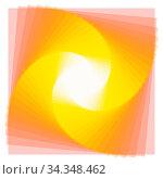 Купить «Farben Spirale aus vielen farbigen Quadraten mit Farbverlauf», фото № 34348462, снято 5 августа 2020 г. (c) age Fotostock / Фотобанк Лори