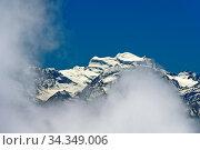 Wolkenspiel am Grand Combin Massiv, Walliser Alpen, Bourg-Saint-Pierre... Стоковое фото, фотограф Zoonar.com/georg_A / age Fotostock / Фотобанк Лори
