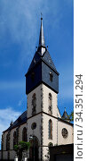 The Town of Friedrichroda, Thuringia, Germnay. Die Stadt Friedrichroda... Стоковое фото, фотограф Zoonar.com/Ulf Nammert / easy Fotostock / Фотобанк Лори