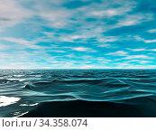 Die Weite der Weltmeere bis zum Horizont. Стоковое фото, фотограф Zoonar.com/Dr. Norbert Lange / easy Fotostock / Фотобанк Лори