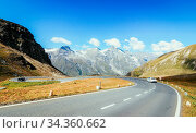 Mountain Range in the Alps: Großglockner and the High Alpine Road... Стоковое фото, фотограф Zoonar.com/Patrick Daxenbichler / easy Fotostock / Фотобанк Лори