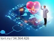 Telemedicine concept with remote diagnostics and consultation. Стоковое фото, фотограф Elnur / Фотобанк Лори