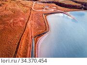 Aerial view of potash evaporation ponds in the Moab area in western... Стоковое фото, фотограф Zoonar.com/Marek Uliasz / easy Fotostock / Фотобанк Лори
