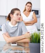 Two upset girls after quarrel. Стоковое фото, фотограф Яков Филимонов / Фотобанк Лори