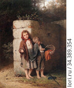 Bremen Johann Georg Meyer Von - Children Begging - German School - ... Редакционное фото, фотограф Artepics / age Fotostock / Фотобанк Лори