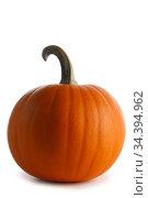 Pumpkin isolated on white. Стоковое фото, фотограф Иван Михайлов / Фотобанк Лори