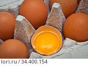 Frische Hühnereier aus Deutschland. Стоковое фото, фотограф Zoonar.com/Stockfotos-MG / easy Fotostock / Фотобанк Лори