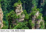 Vertical karst pillar rock formations as seen from the Enchanted terrace... Стоковое фото, фотограф Zoonar.com/Pawel Opaska / easy Fotostock / Фотобанк Лори