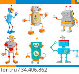 Cartoon Illustrations of Funny Robots Fantasy Characters Collection. Стоковое фото, фотограф Zoonar.com/Igor Zakowski / easy Fotostock / Фотобанк Лори