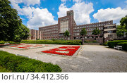 City Hall, Oberhausen, Ruhr Area, North Rhine-Westphalia, Germany. Редакционное фото, агентство Caro Photoagency / Фотобанк Лори