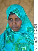 Hobyo Kebele, Somali Region, Ethiopia - Portrait of a woman. Редакционное фото, агентство Caro Photoagency / Фотобанк Лори