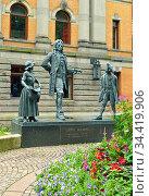 Ludvig Holberg Monument in Oslo (2016 год). Редакционное фото, фотограф Валерия Попова / Фотобанк Лори