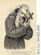 Portrait of Fray Diego José de Cádiz. José Francisco López-Caamano... Стоковое фото, фотограф Jerónimo Alba / age Fotostock / Фотобанк Лори