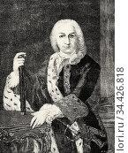 Portrait of José Carrillo de Albornoz y Montiel, 3rd Count of Montemar... Стоковое фото, фотограф Jerónimo Alba / age Fotostock / Фотобанк Лори