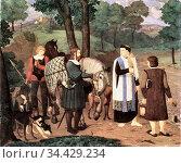 Pforr Franz - Rudolf Von Habsburg Und Der Priester - German School... (2020 год). Редакционное фото, фотограф Artepics / age Fotostock / Фотобанк Лори
