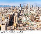 Aerial view of Tokyo skylines and skyscrapers buildings in Shinjuku... Стоковое фото, фотограф Zoonar.com/Vichie81 / easy Fotostock / Фотобанк Лори