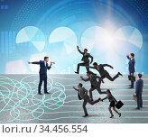 Business people in uncertainty concept. Стоковое фото, фотограф Elnur / Фотобанк Лори