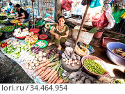 CAI BE - SEPTEMBER 29: A local market stall selling vegetables on... Стоковое фото, фотограф Zoonar.com/Chris Putnam / age Fotostock / Фотобанк Лори