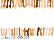 Viele Hände machen das Daumen hoch Zeichen als Team und Erfolg Konzept. Стоковое фото, фотограф Zoonar.com/Robert Kneschke / age Fotostock / Фотобанк Лори