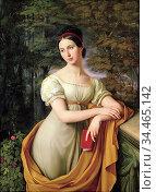Schadow Wilhelm Von - Portrait of Agnes Rauch - German School - 19th... Стоковое фото, фотограф Artepics / age Fotostock / Фотобанк Лори