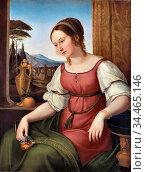 Schadow Wilhelm Von - Portrait of a Young Roman Woman (Angelina Magtti... Стоковое фото, фотограф Artepics / age Fotostock / Фотобанк Лори