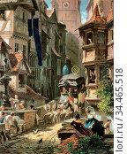 Spitzweg Carl - Ankunft Der Postkutsche - German School - 19th Century... Редакционное фото, фотограф Artepics / age Fotostock / Фотобанк Лори
