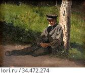 Munsterhjelm Hjalmar - Lepohetki - Finnish School - 19th Century. Редакционное фото, фотограф Artepics / age Fotostock / Фотобанк Лори