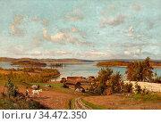 Munsterhjelm Hjalmar - Landscape from Tuulos - Finnish School - 19th... Редакционное фото, фотограф Artepics / age Fotostock / Фотобанк Лори
