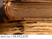 Antique books showing aging of the pages. Стоковое фото, фотограф Zoonar.com/Ruslan Gilmanshin / age Fotostock / Фотобанк Лори