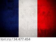 Weathered Flag Of France, fabric textured. Стоковое фото, фотограф Zoonar.com/Ruslan Gilmanshin / age Fotostock / Фотобанк Лори