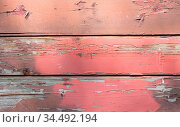 Old wooden wall, painted a long time ago. Стоковое фото, фотограф Zoonar.com/Micha Klootwijk / age Fotostock / Фотобанк Лори