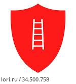 Leiter und Schild - Ladder and shield. Стоковое фото, фотограф Zoonar.com/Robert Biedermann / easy Fotostock / Фотобанк Лори