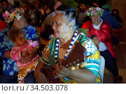 Atiu Island. Cook Island. Polynesia. South Pacific Ocean. People ... Редакционное фото, фотограф Sergi Reboredo / age Fotostock / Фотобанк Лори