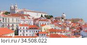 Lisbon, Portugal. Cityscape of Alfama (2017 год). Стоковое фото, фотограф EugeneSergeev / Фотобанк Лори